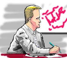 Coleman trial cartoon
