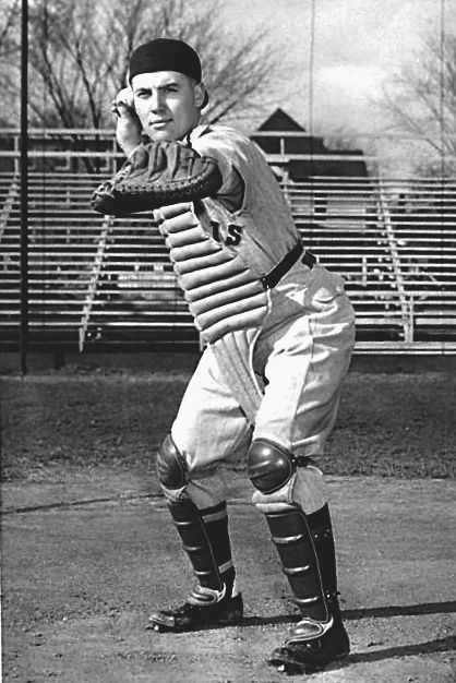 "Pictured, Lee Paul ""Coach"" Eilbracht back in his playing days with the University of Illinois baseball team."