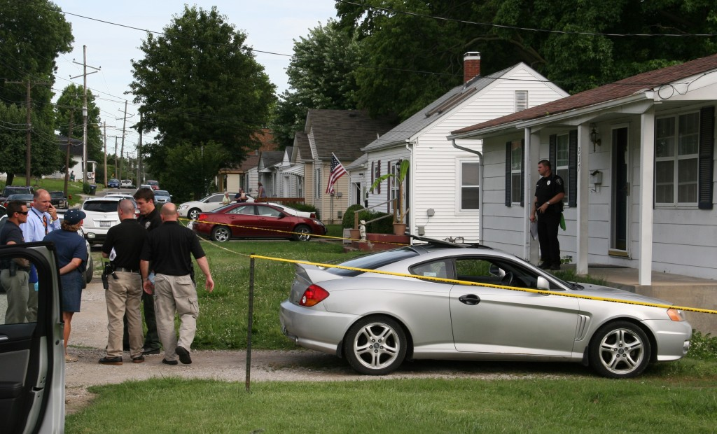 The scene outside 237 South Riebeling Street in Columbia on Thursday afternoon after the Major Case Squad was activated. (Kermit Constantine photo)