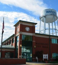 Waterloo-city-hall-with-water-tower