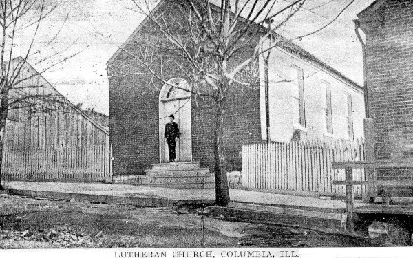 Pictured is the old St. Paul's Lutheran Church in Columbia, circa 1854, which still stands near an old schoolhouse the congregation is hoping to restore. (submitted photo)