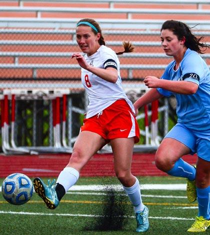 Waterloo's Erika Lloyd was recently named an lIlinois High School Soccer Coaches Association All-State selection. (John Spytek photo)