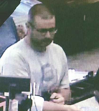 Surveillance image from Fast Stop.