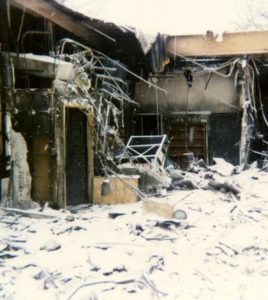 The fire of 1995 destroyed Gibault's library and damaged much of Building A. (submitted photo)