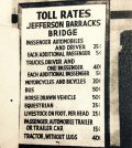 Pictured is the toll rate sign for the old Jefferson Barracks Bridge, which opened to traffic Dec. 9, 1944. It operated as a toll bridge until 1959. (submitted photo)