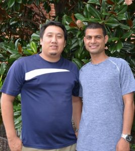 Pictured are Chandan Pun and Dinesh Kc, who are visiting the area from Nepal. (Corey Saathoff photo)