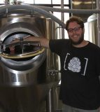 Matt Schweizer looks forward to opening his brewery in downtown Waterloo next month. (Sean McGowan photo)