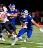 Colton Byrd ran for scores of 30 and 14 yards in a 51-6 blowout of Freeburg on Friday night.
