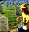 Fred Harres stopped to pay his respects to World War II veteran Audie Murphy at Arlington National Cemetery. Murphy was one of the most decorated American soldiers in WWII. (submitted photo)