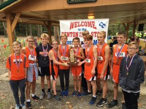 Pictured is the Waterloo Junior High School boys cross country team following its second place finish Saturday at the SIJHSAA Class L state meet. Team members, from left, are Grant Barker, Max Baldwin, Ian Schrader, Gavin Hearren, Kyle Stewart, Joe Schwartz, Morgan Stratton, Gage Nottmeier, Caden Douthit and Riley Chamberlain. (submitted photo)