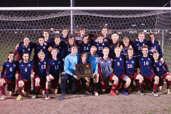 The Gibault soccer team is all smiles after winning the supersectional title on Tuesday night. (John Hooser photo)