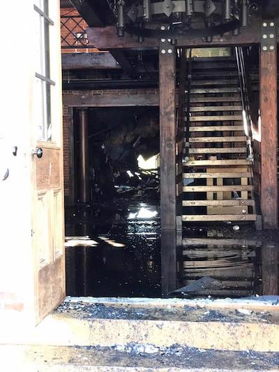 A look inside Hopskeller from the front door following Sunday's fire. (submitted photo)