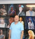 Steve Straub displays some of the photos he took at Fox Theater in his office at Nolkemper Insurance in Columbia. (Sean McGowan photo)