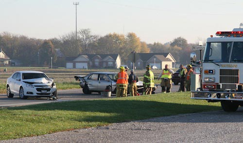 Pictured is the crash scene on Tuesday morning. (Kermit Constantine photo)