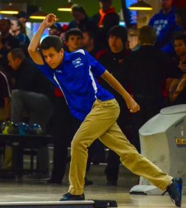 Pictured is Columbia bowler Justin Budde, who rolled a perfect 300 game earlier this season. (John Spytek photo)