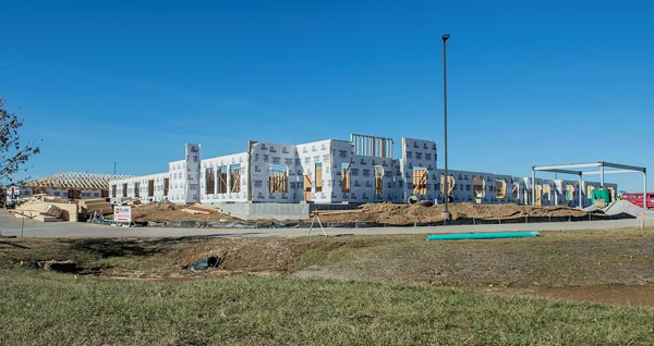 Pictured is the exterior of the future Evergreen Pointe to be located next to Oak Hill in Waterloo. (Alan Dooley photos)